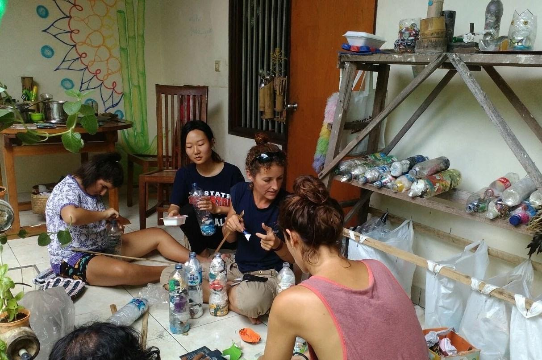 making ecobricks from household trash